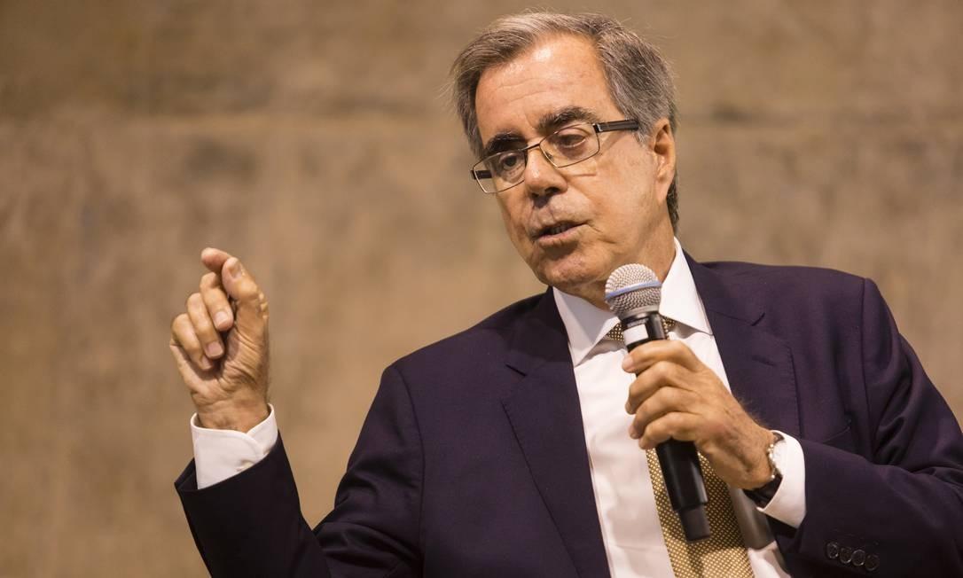 Carlos Geraldo Langoni, em 2017 em Seminário na FGV Foto: Fernando Lemos / Agência O Globo