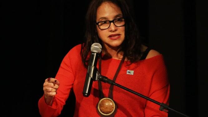 Presidente do PCdoB, deputada Luciana Santos (PE). Foto: Fernando Donasci / Fernando Donasci/ Agência O Globo