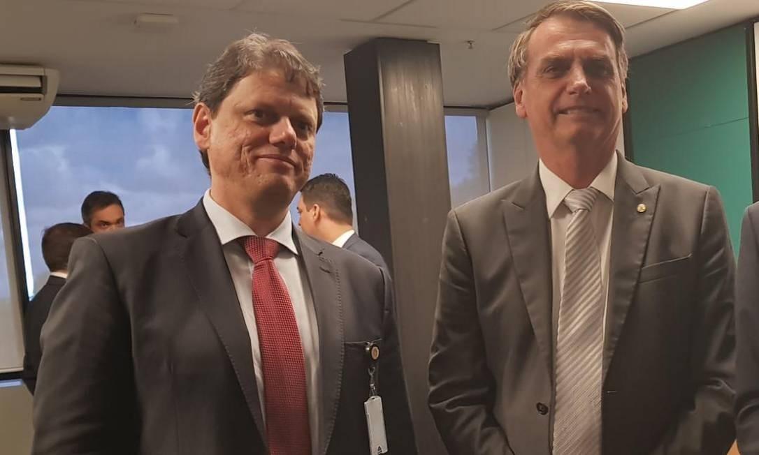 Tarcísio Gomes de Freitas e o futuro presidente Jair Bolsonaro Foto: Divulgação