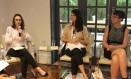 Débora Albu, Luisa Ribeiro e Ann O'Dea participaram de debate no Centro Brasileiro de Relações Internacionais Foto: Beatriz Garcia/Cebri