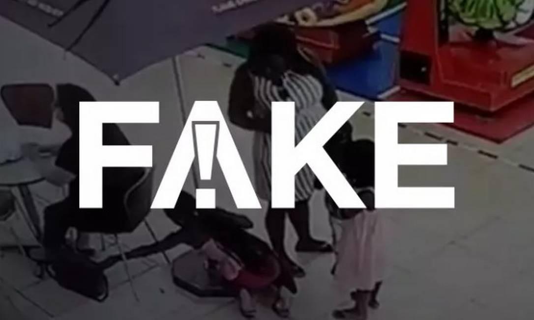 Video é sobre furto ocorrido na África do Sul, e não no Brasil Foto: Reprodução