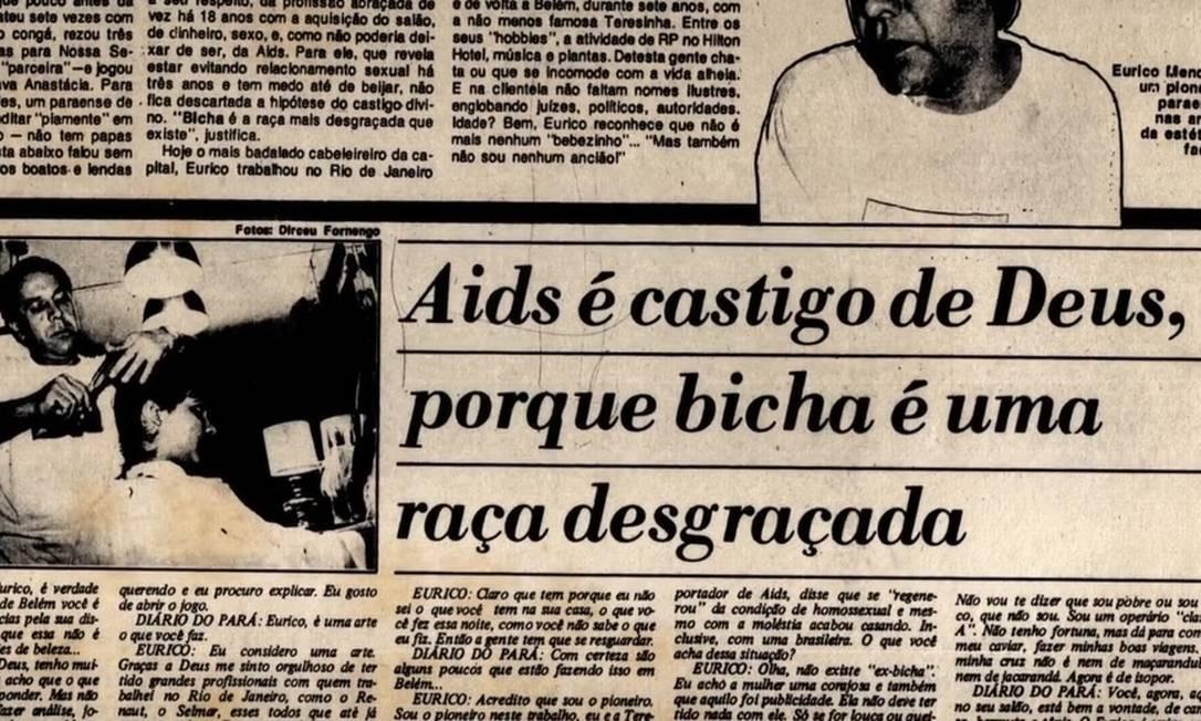Um jornal da década de 1980, exibido no filme Foto: Reprodução