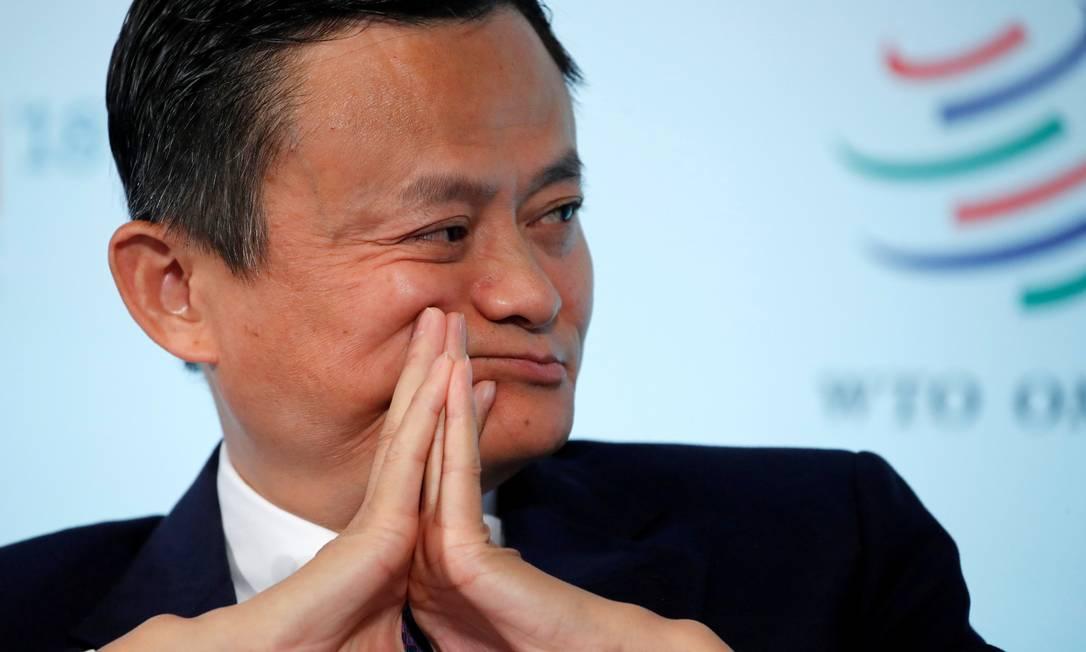 """Dono da AliExpress, Jack Ma participa do Fórum """"Comércio 2030"""", da Organização Mundial do Comércio (OMC), realizado em Genebra, Suíça, em outubro Foto: Denis Balibouse / REUTERS"""