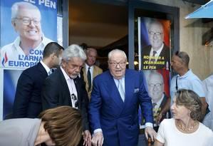Jean-Marie Le Pen tem histórico de declarações xenófobos e antissemitas Foto: JEAN-PAUL PELISSIER / Reuters
