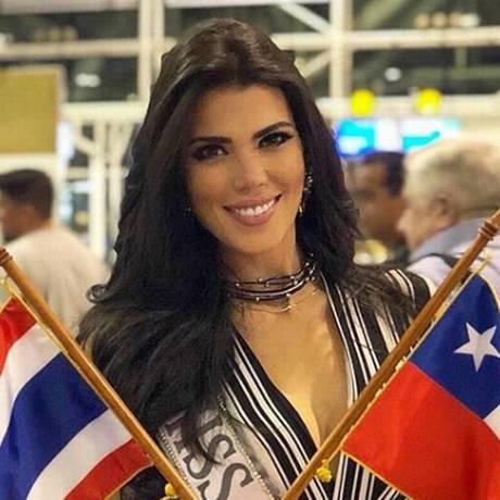 Andrea Díaz, Miss Chile 2018, nascida na Venezuela, parte para o Miss Universo, na Tailândia Foto: Instagram / Reprodução