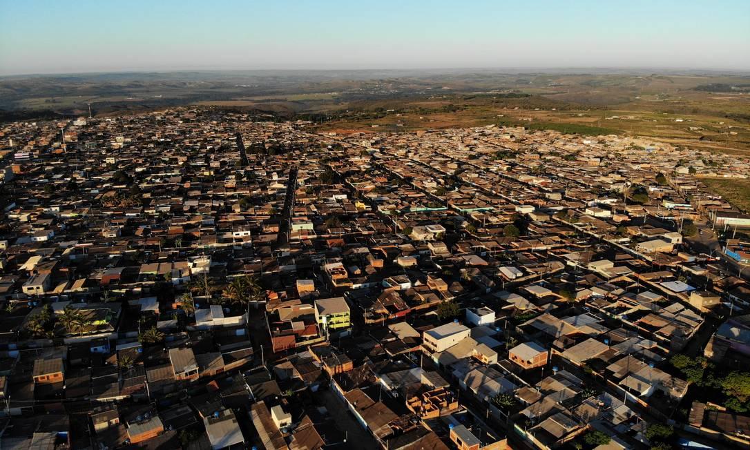 Vista aérea da comunidade do Sol Nascente, em Brasília: impacto de programas sociais na saúde da população é um dos focos das pesquisas Foto: Jorge William/14-05-2018