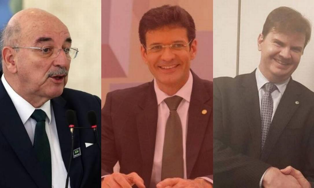 Osmar Terra, Marcelo Álvaro e Gustavo Canuto Foto: Agência O Globo