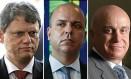 Tarcísio de Freitas, Carlos da Costa e Salim Mattar vão integrar a equipe econômica de Paulo Guedes Foto: .