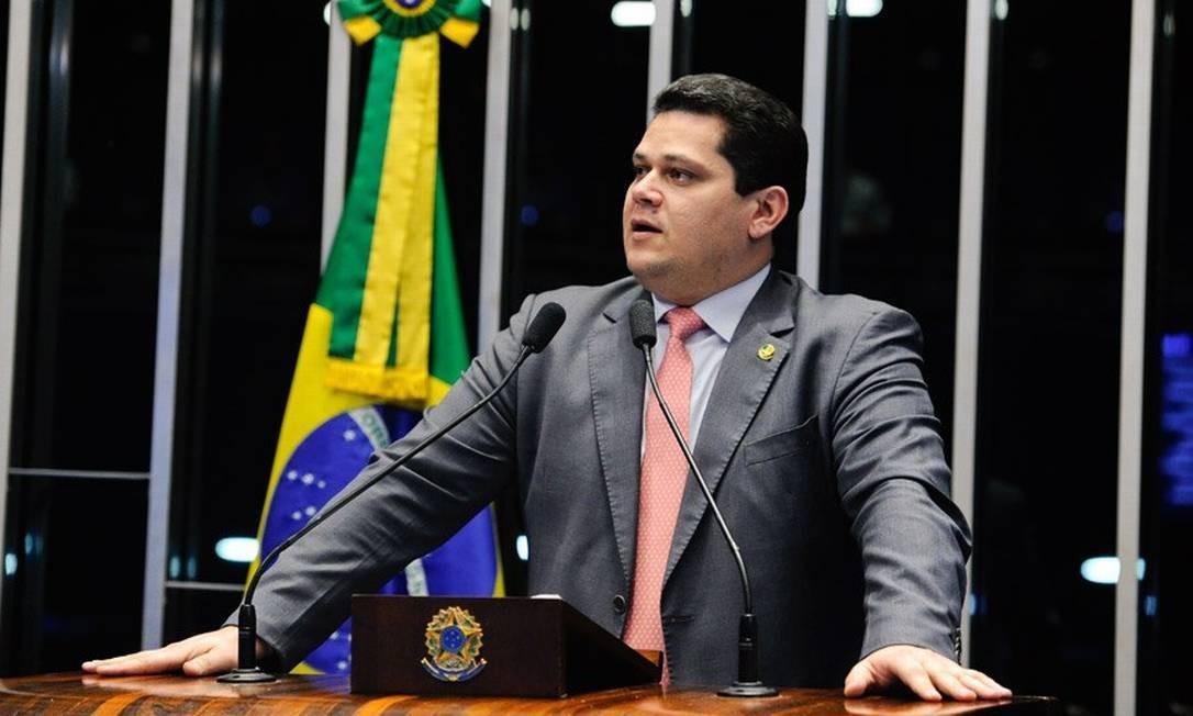 O senador Davi Alcolumbre (DEM-AP) Foto: Marcos Oliveira / Agência Senado