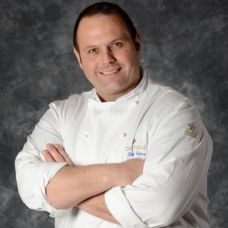 O chef italiano Bobo Cerea, do Da Vittorio, tr~es estrelas Michelin em Bergamo Foto: Divulgação