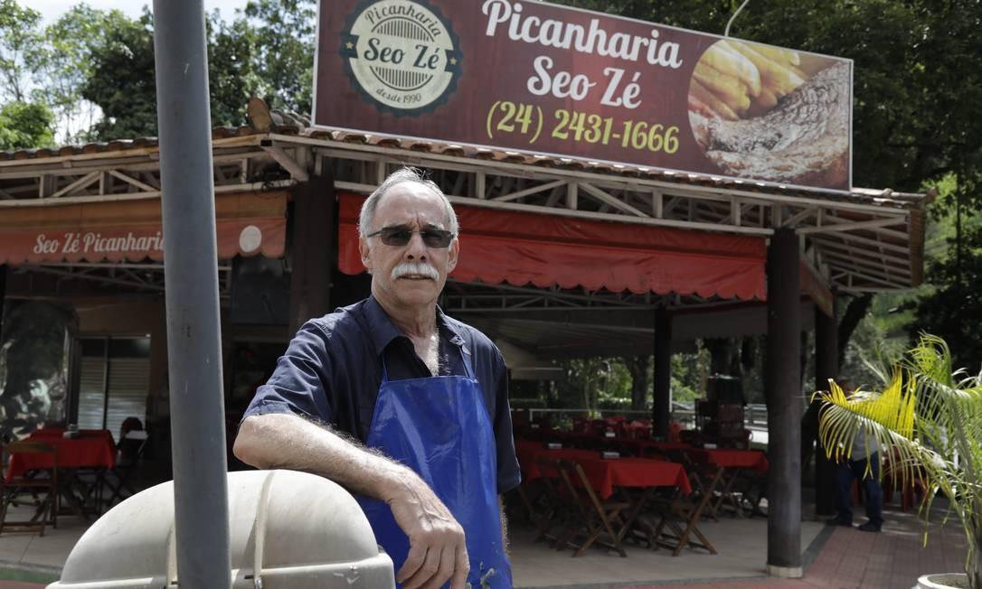José Luiz Loures, dono da Picanharia Seo Zé, um dos pontos que Pezão mais gostava de frequentar Foto: Custódio Coimbra / Agência O Globo