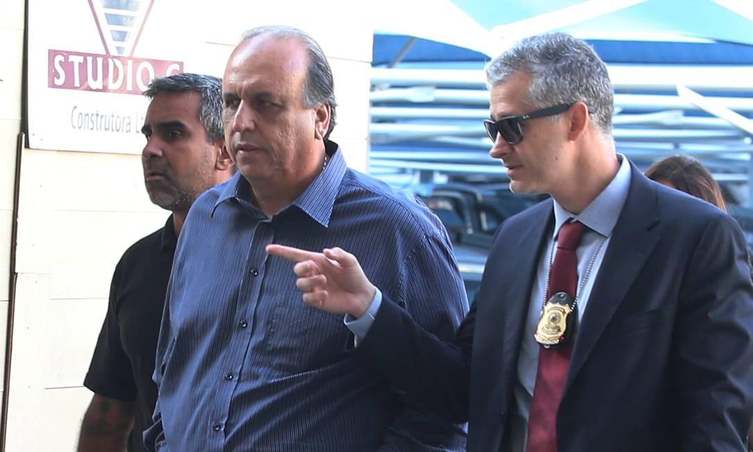 Pezão é preso em desdobramento da Operação Lava Jato Foto: fabiano rocha / Agência O Globo