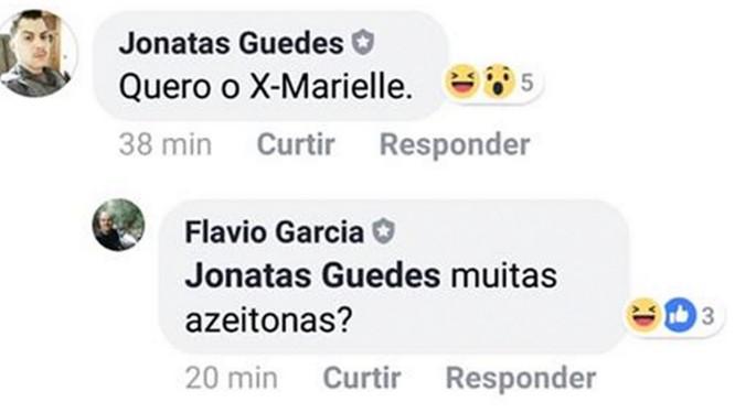 Cabo da PM e vice da OAB de Salto ironizaram críticas ao 'sanduíche Maria da Penha' Foto: Reprodução / Facebook