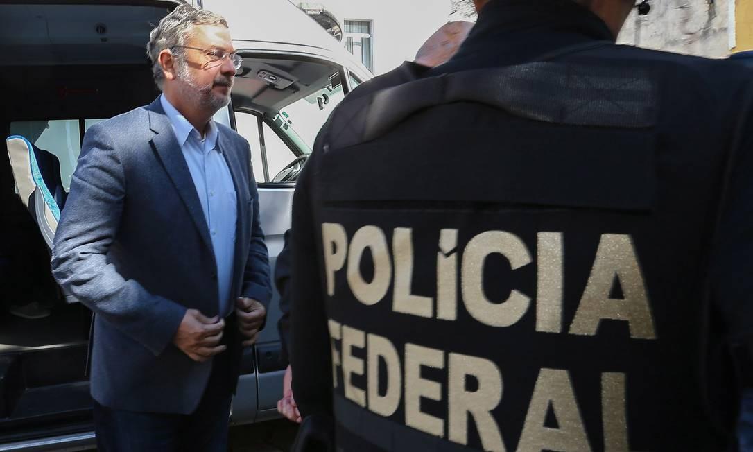 Antonio Palocci foi preso na 35ª fase da Operação Lava Jato, intitulada Operação Omertà Foto: Geraldo Bubniak / Agência O Globo