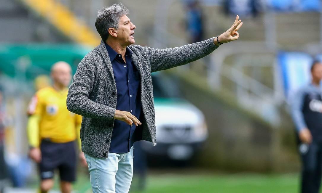 Renato Gaúcho continua no Grêmio Foto: LUCAS UEBEL/GREMIO FBPA