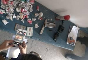 Material apreendido durante ação da Corregedoria Foto: Reprodução