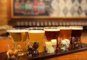 Vila St. Gallen tem harmonização de cervejas com petiscos Foto: Reginaldo Pimenta / Agência O Globo