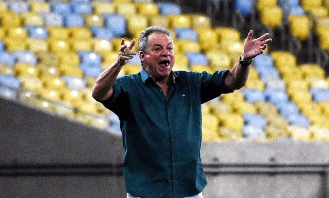 Abel Braga em partida do Fluminense em 2018 Foto: MAILSON SANTANA/FLUMINENSE FC.