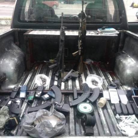 O material apreendido no Dendê Foto: Polícia Militar / Divulgação