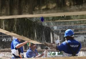 Prefeitura inicia obras nas estruturas do Parque dos Patins Foto: Pedro Teixeira / Agência O Globo