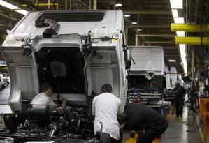 Indústria teve alta de 0,4% neste terceiro trimestre, a primeira do ano: o resultado foi puxado pelas indústrias de transformação Foto: Márcia Foletto / Agência O Globo
