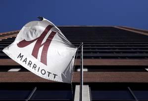 Fachada de hotel Marriott em Nova York Foto: Andrew Kelly / Andrew Kelly/Reuters