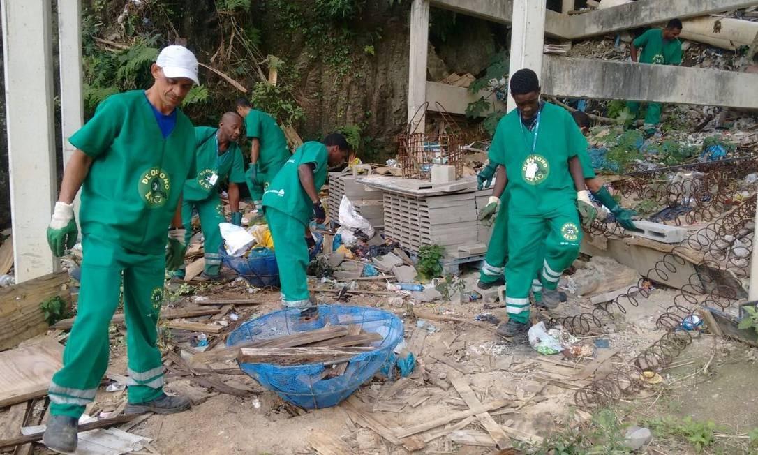 Reciclagem. Os agentes socioambientais fazem o manejo dos resíduos Foto: Divulgação