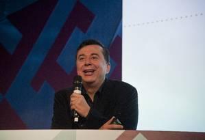 Fábio Coelho durante palestra sobre Inteligência Artificial e visão de futuro, nesta sexta-feira Foto: Agência O Globo