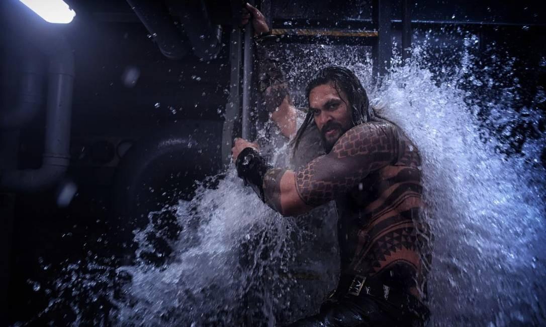 Jason Momoa interpreta o herói do universo DC Foto: Divulgação