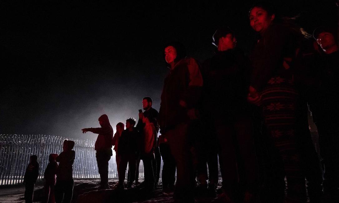 Membros da caravana de migrantes em Tijuana, no Norte do México Foto: GUILLERMO ARIAS / AFP