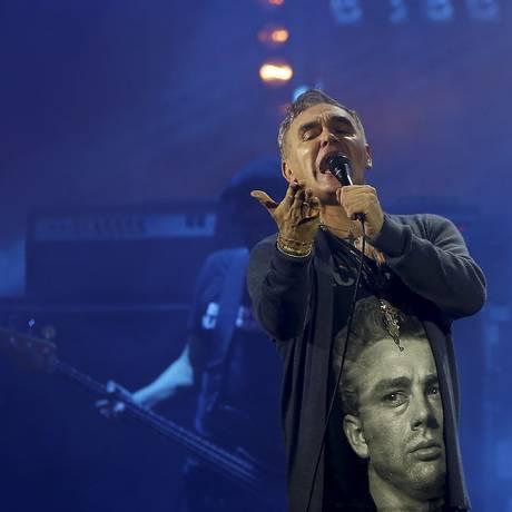Morrissey se apresenta na Fundição Progresso, no Rio Foto: Marcelo Theobald / Agência O Globo