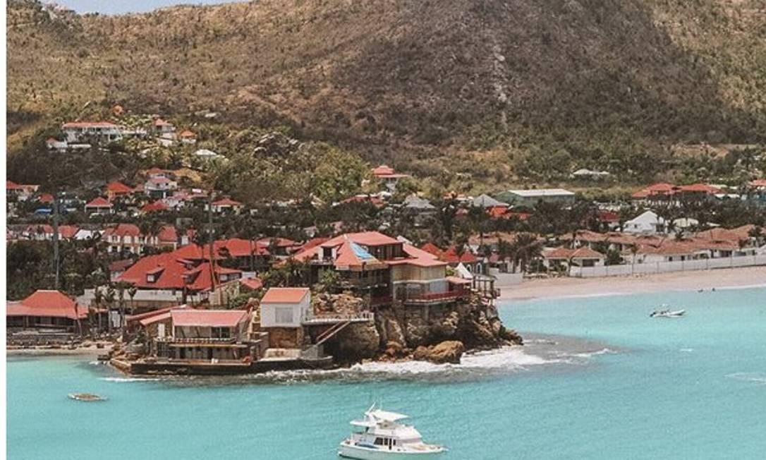 A pequena ilha de Saint Barthélemy Foto: Reprodução