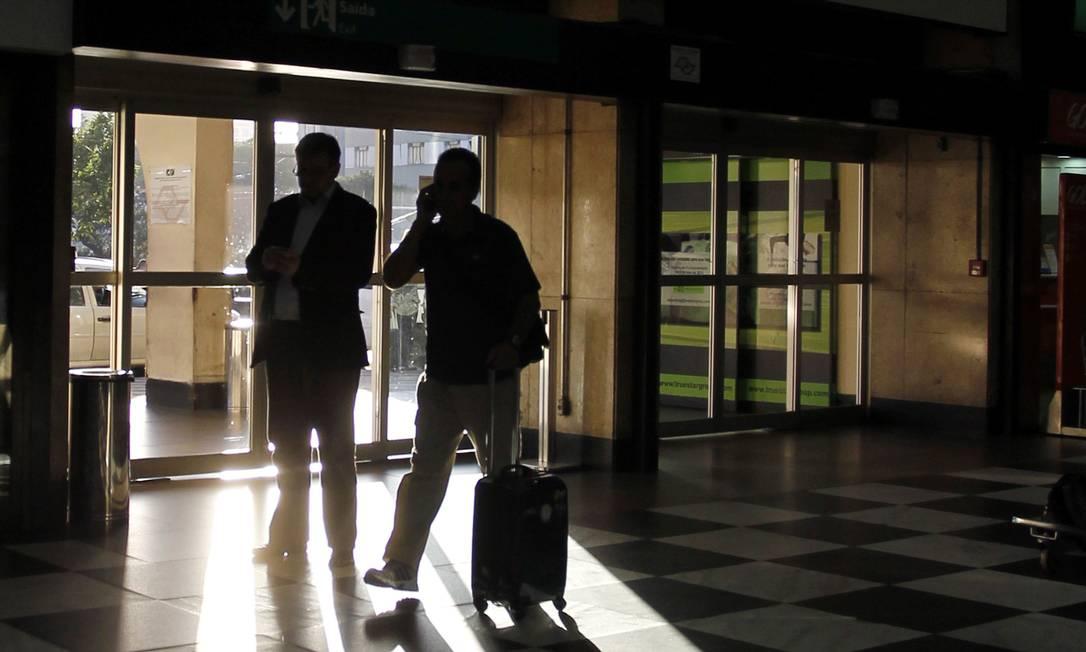 ECO São Paulo (SP) 04/06/2013 - Obras de construção e expansão do Aeroporto Internacional de Congonhas. Elaboração de projetos e execução das obras e serviços de reforma, adequação e modernização do Terminal de Passageiros, Fingers, Sistema Viário e Sistema de Pista e Pátio de Aeronaves do Aeroporto Internacional de Congonhas, além dos demais serviços complementares. Na foto, guichês de atendimento para check in. Foto Michel Filho / Agência O globo Foto: Michel Filho / Agência O Globo
