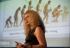 A futuróloga Anne-Marie Dahl deu palestra no Wired Festival, no Rio, sobre o futuro do trabalho e a sociedade emocional Foto: Agência O Globo