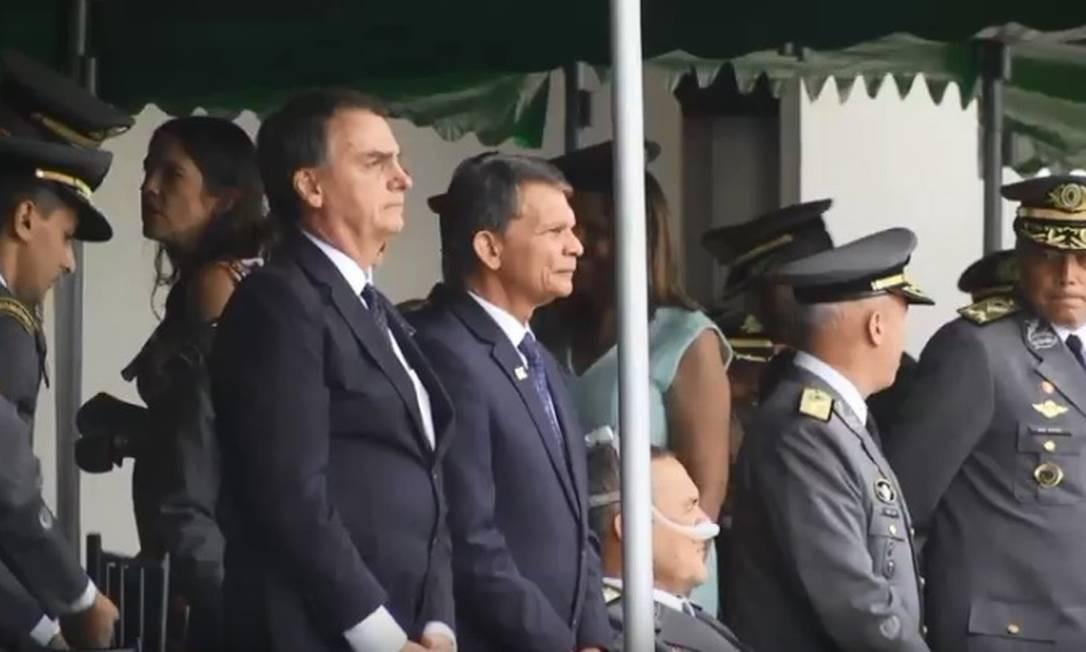 Bolsonaro em formatura da Academia Militar das Agulhas Negras, em Resende Foto: Reprodução