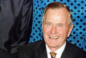 Bush pai morreu aos 94 anos de idade, depois de ocupar a Casa Branca entre 1989 e 1993 Foto: PAUL BUCK / AFP