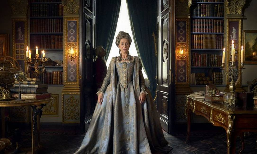 Helen Mirren como Catarina, a grande na aguardada série da HBO Foto: Divulgação