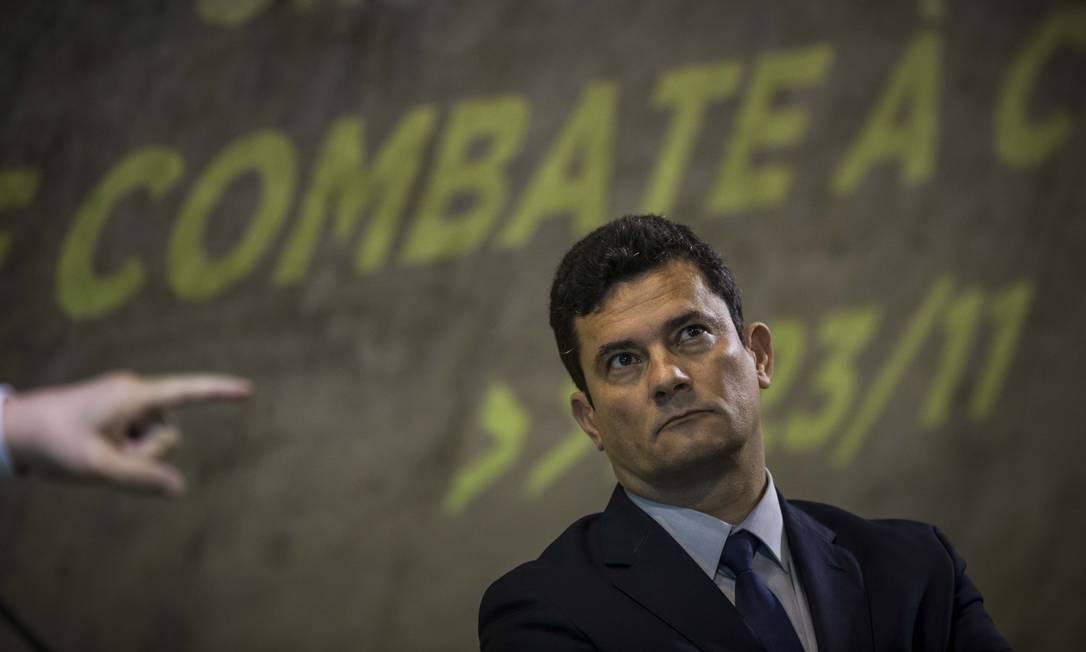 O futuro Ministro da Justiça Sergio Moro participa do Simpósio Nacional de Combate à Corrupção na FGV Foto: Guito Moreto / Agência O Globo