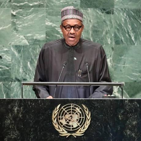 Presidente Buhari, da Nigéria, nega teoria de que morreu e foi substituído por impostos Foto: Carlo Allegri/Reuters
