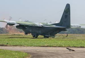 Aeronave C-130 da FAB usada na operação de busca ao avião desaparecido no Amapá Foto: Enilton_Kirchhof / Agência Força Aérea