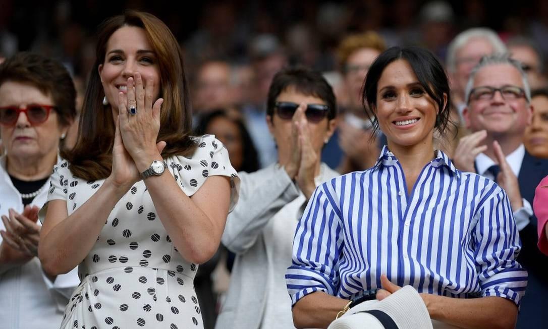 Kate Middleton e Meghan Markle Foto: Toby Melville / Reuters