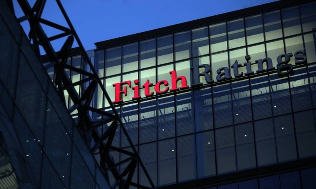 Sede da agência Fitch em Londres Foto: Bloomberg News/Arquivo