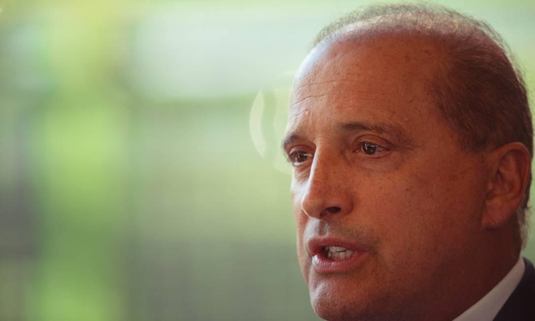 O ministro extraordinario da transição, Onyx Lorenzoni, durante entrevista coletiva no CCBB Foto: Daniel Marenco / Agência O Globo