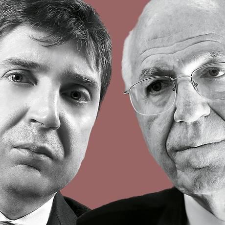 Guilherme Feliciano e José Pastore Foto: Agência O Globo