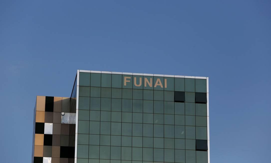 Fachada do prédio da Funai em Brasília. Foto: Michel Filho / Agência O Globo