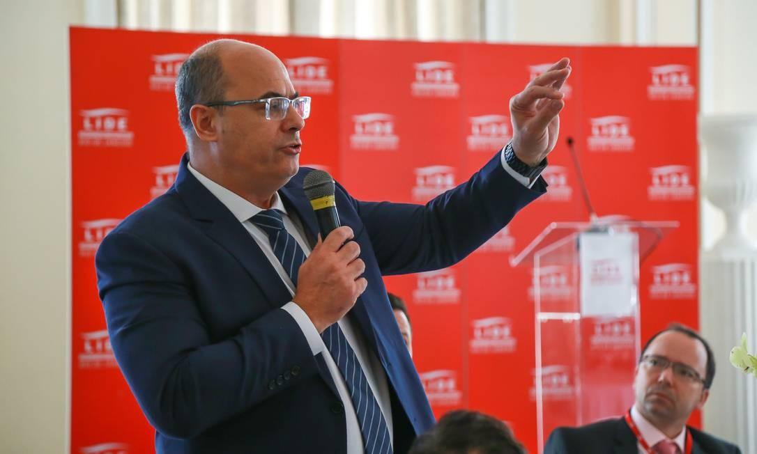 O governador eleito Wilson Witzel se encontra com o grupo de líderes empresariais do Rio Foto: Marcelo Regua / Agência O Globo