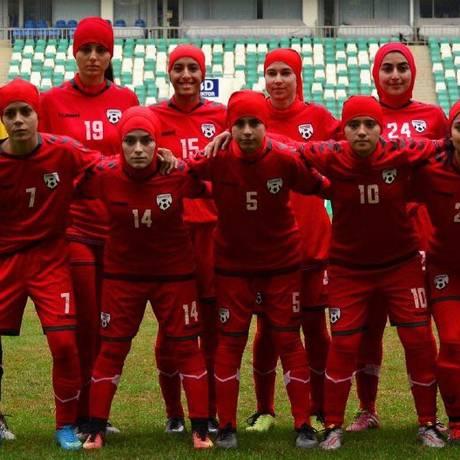 Seleção feminina de futebol do Afeganistão Foto: Reprodução Internet