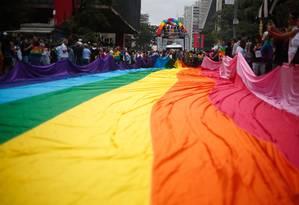 Parada do orgulho LGBTI de São Paulo em 2018 Foto: Marcos Alves / Agência O Globo
