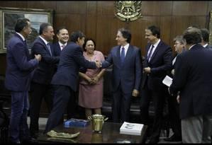 Presidente do Senado, Eunício Oliveira, em encontro com os governadores Foto: Divulgação