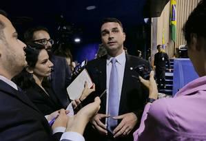 O senador eleito pelo Rio Flávio Bolsonaro (PSL) 04/12/2018 Foto: Agência Senado